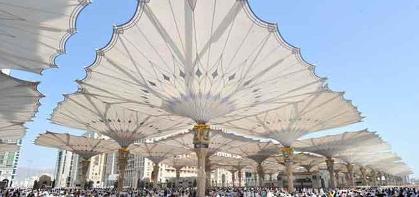 World's largest umbrellas to be installed at Makkah Grand Mosque